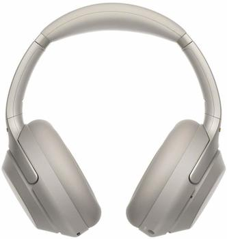 Sony WH-1000XM3 Bluetooth NFC, Noise-Cancelling, Quick Attention Modus, Gestenkontrolle, Touch Sensor, Schnellladefunktion) silberfarben