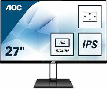 AOC 27V2Q 27Zoll Full HD LED Flach Schwarz Computerbildschirm