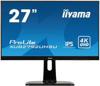 Iiyama XUB2792UHSU-B1 LED-Monitor - (27 Zoll) IPS-Panel-Technologie, Edge-to-Edge-Monitor mit 4K Ultra HD Flach Matt Schwarz