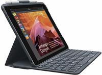 Logitech Slim Folio with Integrated Bluetooth Keyboard für iPad (5th and 6th Generation) - Carbon Black - DEU - Central Schwarz (Deutsches Tastaturlayout)